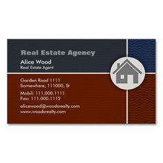 Real Estate - Professional Business Card Magnetic Business Cards (Pack Of This great business card design is available for customization. All text style, colors, sizes can be modified to fit your needs. Just click the image to learn more! Magnetic Business Cards, Salon Business Cards, Real Estate Business Cards, Custom Business Cards, Professional Business Cards, Business Card Design, Free Business Card Templates, Real Estate Agency, Standard Business Card Size