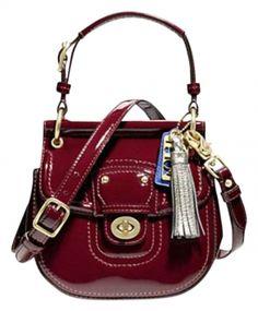 Coach Exceptional Mini Willis In Crimson Red Cross Body Bag $160 #coach #handbags
