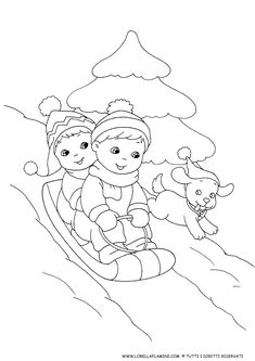 Colouring Pages, Adult Coloring Pages, Coloring Books, Toddler Learning Activities, Christmas Coloring Pages, Winter Art, Dramatic Play, Winter Sports, Christmas Colors