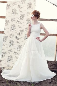 Balerina Inspired Wedding Dress Low Back by PureMagnoliaCouture, $2200.00