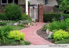 Calgary garden inspiration...love the path and plantings