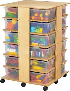 Jonti-Craft Mobile 32 Cubbie Tower with Colored Tubs for preschool storage up to Off! Save on all preschool and daycare organization furniture from Worthington Direct. Storage Tubs, Cubby Storage, Craft Storage, Locker Storage, Storage Area, Kids Storage, Craft Organization, Diy Locker, Organizing Crafts