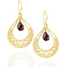 Emma Chapman Jewels - JALI HEART EARRINGS