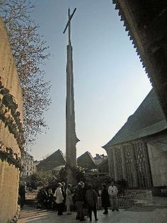 Joan of Arc Rouen | cross where Joan of Arc burned at the stake - Picture of Rouen ...