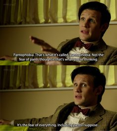 """Love the Doctor's side rambling. Ten used to do it too, with all his """"welll"""" <3 always the same man"""