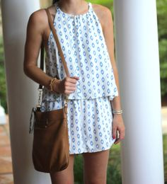 blue and white cupcakes and cashmere popover romper