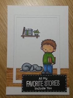 Hello my friends! It's Kleri here and today I would like to share with you a little card I made inspired by some challenges and a super cute stamp set by My Favorite Things called Our Story. …