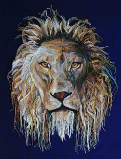 Gehaakte leeuw Cecil. Freeform crochet lion Cecil by Wilma Poot / www.artsation.nl