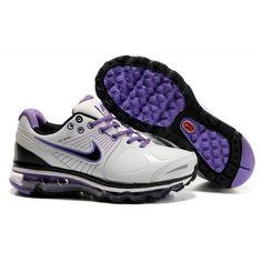 best sneakers b6310 cba2c Femme Nike Air Max 2009 Leather Blanc Noir Violet88,98€