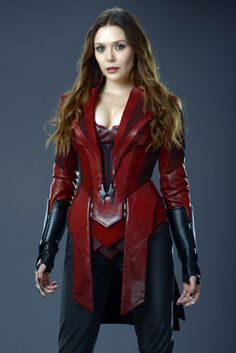 NEW Elizabeth Olsen as Scarlet Witch in promotional photo from Avengers Age Of Ultron Marvel Dc, Wanda Marvel, Marvel Women, Marvel Girls, Marvel Heroes, Marvel Comics, Captain Marvel, Wanda Avengers, Scarlet Witch Marvel