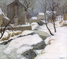 The Brook At Carversville - Edward Willis Redfield