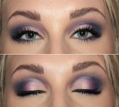 Purple smokey eye...beautiful! I love doing my eyes like this! Just hardly ever find the occasion to...