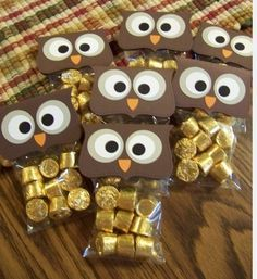 """I love this. Too bad it would take a whole day to make 80 of them. """"Owl Miss You!"""" candy gift - for the last day of school"""