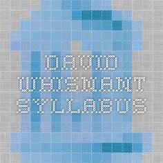 dissertation syllabus