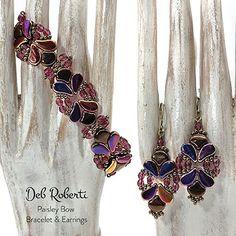 DIY Jewelry Bead Pack Deb Roberti/'s Paisley Bow Beaded Bracelet /& Earrings Tutorial Sold Separately