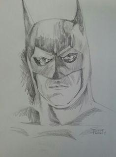 A pencil sketch I drew of Michael Keaton.