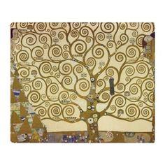 Tree of Life by Gustav Klimt Throw Blanket