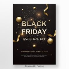 The Black And The Black Friday Promotion Poster Christmas Poster, Holiday Posters, Black Christmas, Christmas Holidays, Gold Gift Boxes, November 23, Party Poster, Festival Posters, Sale Poster
