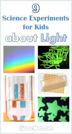 9 science activities for kids to learn about light: so much to learn about light, and so many fun activity ideas! Great STEM activities for classroom, school science fair projects, after school at home activity, or homeschool teaching resource.