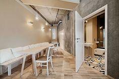 Bema Café in Wrocław. Floor tiles: Purpura #cementtiles