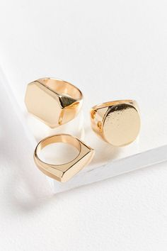 Signet Ring Set | Urban Outfitters