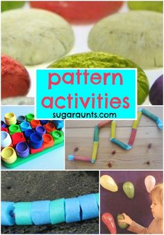 Pattern Activities for Kindergarten and beginner math