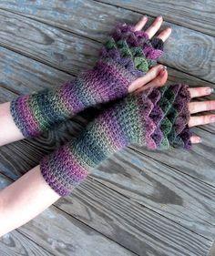 Dragonscale Gloves by TheCrochetDragon.deviantart.com on @DeviantArt