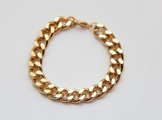 Gold chunky chain Bracelet - 24k gold plated