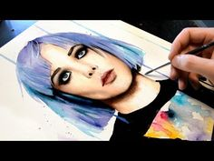 【WATERCOLOR PORTRAIT】Alice Glass (ex Crystal Castles) - YouTube