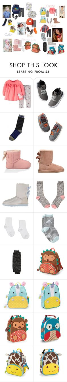 """""""Dropping kids off at daycare while I go to work"""" by allie-kraus ❤ liked on Polyvore featuring beauty, Carter's, One Step Up, MeMoi, UGG Australia, Hollister Co. and Skip Hop"""