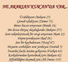Kur'an-ı Kerim şifadır Tüm dert ve sıkıntılarımız için Yüce kur'anı kerimde dua ve süreler ve ayetler vardır. İşte bazı ayetler …