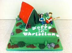 Tent birthday cake