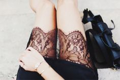 {style inspiration | at the office : wool tweed & black lace} | Flickr - Photo Sharing!