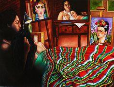 Frida Kahlo Diego Rivera artista arte mexicano lámina del Original pintura al óleo un momento k Madison Moore