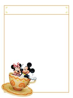 "Minnie & Mickey in a Teacup with title box - Project Life Disney Journal Card - Scrapbooking. ~~~~~~~~~ Size: 3x4"" @ 300 dpi. This card is **Personal use only - NOT for sale/resale** Logos/clipart belong to Disney. ***Click through to photobucket to see this this card with lots of different characters***"