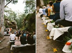 Barefoot Kangaroo Valley Bush Retreat Wedding featuring dirt bikes, a cattle dog and an outdoor cathedral made of rock. Please enjoy this fun bush wedding. Dirt Bike Wedding, Bush Wedding, Wedding Venues, Wedding Ideas, Kangaroo, Highlands, Cheryl, Photography, Outdoor