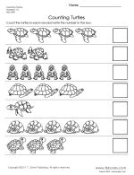 Counting Turtles Worksheet
