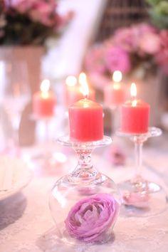 Romantic flower glass candles #fl3urnyc