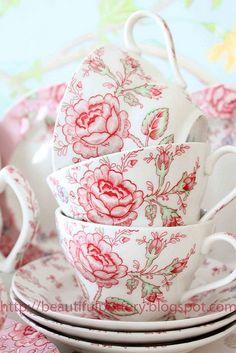 Set De 6 Blanco Tulip forma Porcelana Fina Taza Tazas Beakers