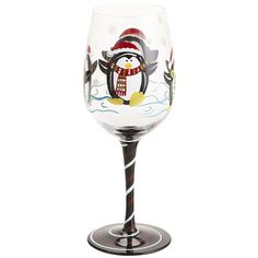 Christmas Stemware WITH A PENGUIN