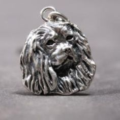 Cavalier King Charles Spaniel silver HAT PIN head flat