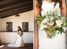 gorgeous bride with a garden inspired bouquet