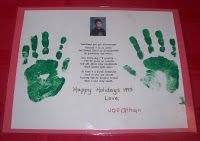 Christmas handprint art
