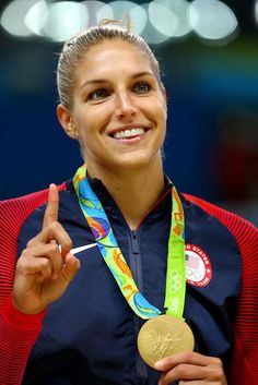 83986e31e98a Elena Delle Donne during the medal ceremony at the 2016 Olympic Games in  Rio