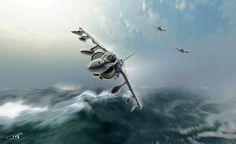 British Harrier Jets, Falkland War
