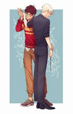 I enjoyed so much while drawing this commission 😢💕 Draco Harry Potter, Harry Potter Anime, Harry Potter Comics, Hery Potter, Magia Harry Potter, Mundo Harry Potter, Harry Potter Ships, Harry Potter Drawings, Harry Potter World