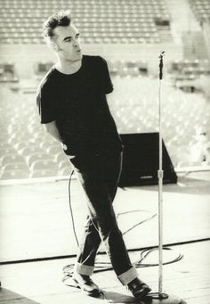 Morrissey in the early 1990's. Perfection in Levi's