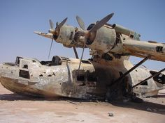 Catalina flying boat abandoned in Saudi Arabia. Cool story behind it.