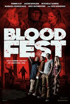 """Trailer for upcoming horror comedy """"Blood Fest"""". Release August Fans flock to a festival celebrating the most iconic horror movies, only to discover that the charismatic showman behind the event has a diabolical agenda. 2018 Movies, Hd Movies, Movies To Watch, Movies Online, Movie Songs, Movie Tv, Best Horror Movies, Horror Movie Posters, Scary Movies"""