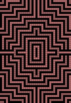 Artwork by at Grid Paint. Tapestry Crochet Patterns, Bead Loom Patterns, Crochet Stitches Patterns, Mosaic Patterns, Crochet Designs, Quilt Patterns, Knitting Patterns, Knitting Charts, Knitting Stitches